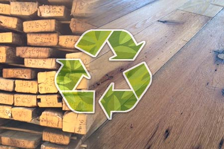 tarima flotante de madera recuperada reciclada
